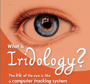 Iridology image of the eye